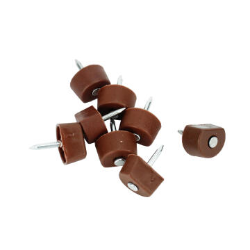 SHELF SUPPORT NAIL IN PLASTIC BROWN 50P