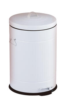 Kitchen pedal bin 20L galvanized white