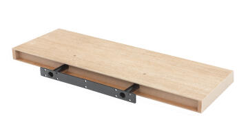 Floating shelf oak 80x23cm