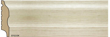 Skirting Polymer Curved Limed Oak-15x75x2700mm-pack of 2