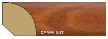 Quarter Round Polymer Walnut-16x16x2700mm-pack of 2