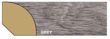 Quarter Round Polymer Grey-16x16x2700mm-pack of 2