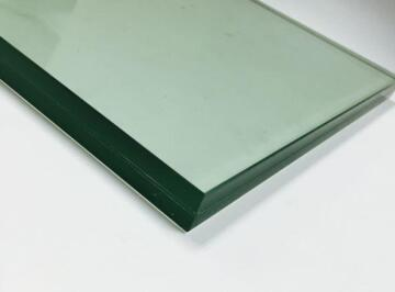 Mineral Glass Laminated White Safety Glass 6.38mm thick-2440x2000mm