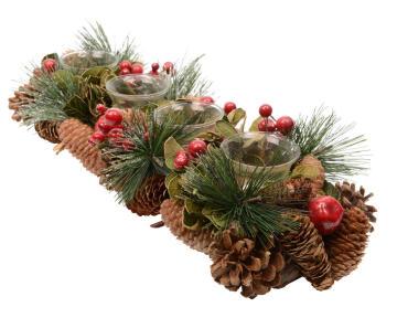 CHRISTMAS TEALIGHT HOLDER 8X47X16CM