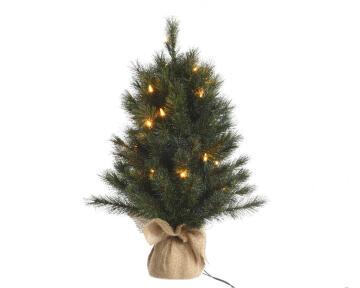 MINI XMAS TREE GREEN PRELIT MED 60CM