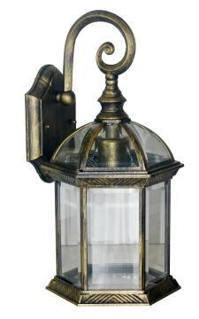 WALL DOWN LAMP,E27,MAX.100W,IP23,BLACK G