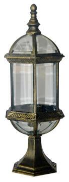 SMALL POST LAMP,E27,MAX.100W,IP23,BLACK
