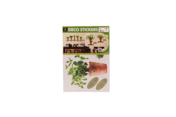 WALL STICKER SMALL HERB POTS II 25X35