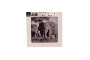 DECO GLASS ELEPHANTS IN TANZANIA 20X20