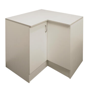 Kitchen base cabinet kit corner 2 door SPRINT white L100cmxH87cmxD100cm