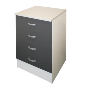 Kitchen base cabinet kit 4 drawer SPRINT grey L60cmxH87cmxD60cm