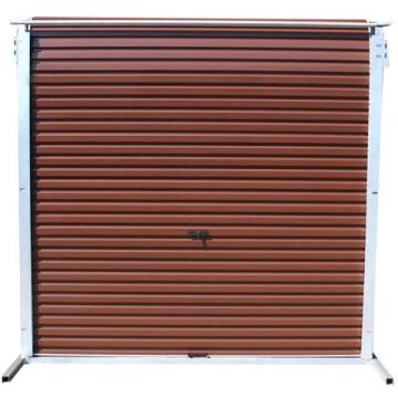 Garage Door Roll Up Aluzinc Brown-w2550xh2100mm