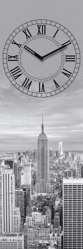 GLASS CLOCK NEW YORK TIME 20X60