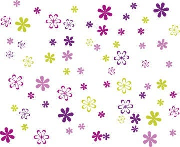 WALL STICKER SMALL JAZZY BLOOMS 25X35