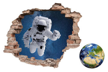WALL STICKER 3D OUTSIDER SPACE 49,6X70