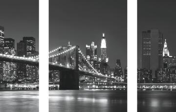 ADHESIVE PICTURE NEW YORK SKYLINE 50X70