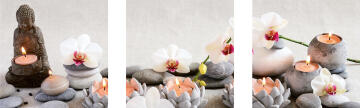 ADHESIVE PICTURE ORCHIDS 30X30