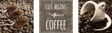 ADHESIVE PICTURE COFFEE LIFE 30X30