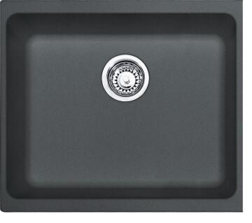 Kitchen sink 1square bowl FRANKE KBG1150 stainless steel 480cmx430cmx180cm