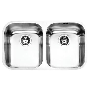 Kitchen sink 2square bowls 1drainer FRANKE ZRX120B s/steel 230cmx430cm X152cm