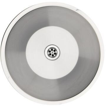 Kitchen sink 1 round bowl FRANKE RDX610-44 stainless steel 440cm