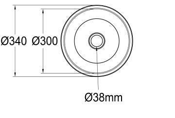 Kitchen sink 1 round bowl FRANKE RDX610-34 stainless steel 340cm