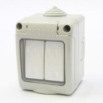 Waterproof switch 2 levers 1 way IP55