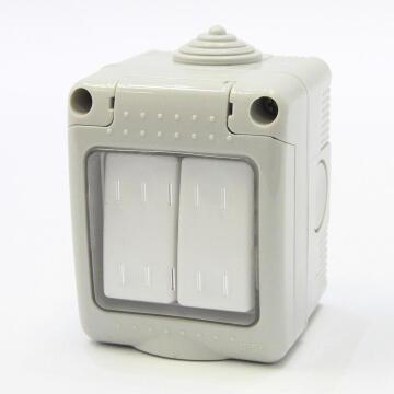 Waterproof switch 2 levers 2 ways IP55