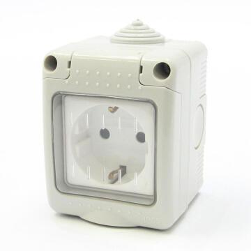 Waterproof socket 1xshucko IP55