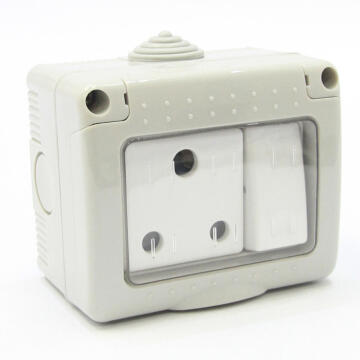 Waterproof socket 1x3pin IP55