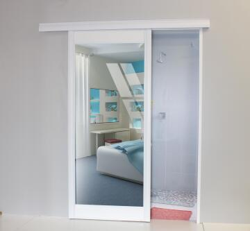 Sliding door mirror/white 890x2050mm