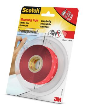 TRANSPARENT MOUNTING TAPE 19MMX5M