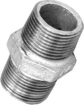 Nipple hex galvanised