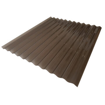 Polycarbonate Roof Sheet Corrugated 1.8m Bronze