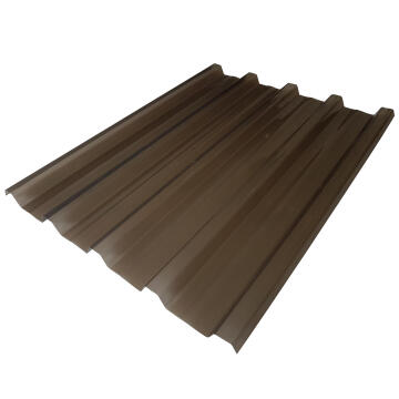 Polycarbonate Roof Sheet IBR 1.8m Bronze