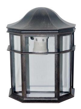 WALL LAMP E27 MAX 100W DIECAST ALU +CLEA