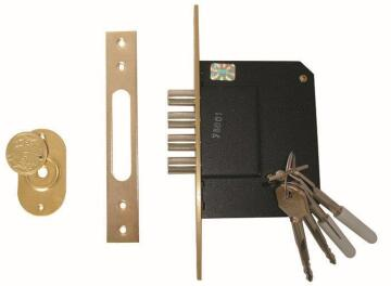 LOCK DEAD 4 PIN HIGH SECURITY NICKL PLTD