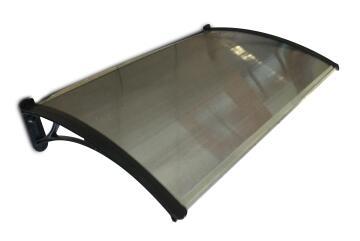 Awning polycarbonate multiwall bronze PVC bracket black 1500x700mm