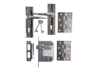 Door Lockset set 2 lever SABS & butt hinge
