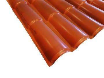 PVC Roof Sheet 2m Terra Cotta ICOPPO