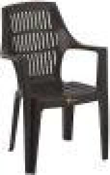 CHAIR PLASTIC GRAPHITE