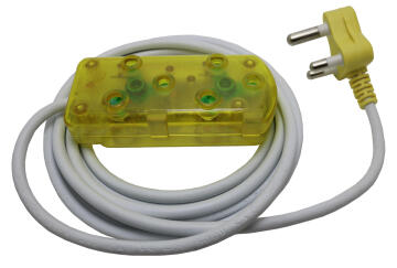EXT 3M LEAD 10A -YELLOW