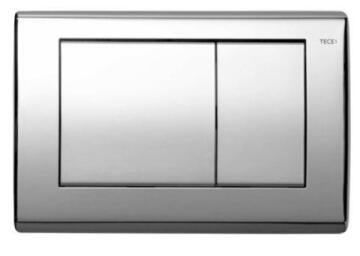 TECE BASE WC PLATE, BRIGHT CHROME