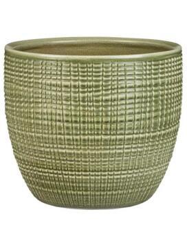 Pot Glazed Mentha Green Medium