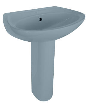 Basin wall hung courier blue 50x42,5cm
