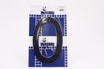 NUMERAL PLASTIC BLACK 200MM - NO 0