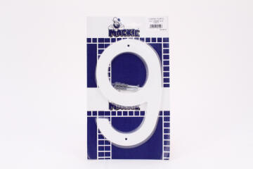 NUMERAL PLASTIC WHITE 200MM - NO 9