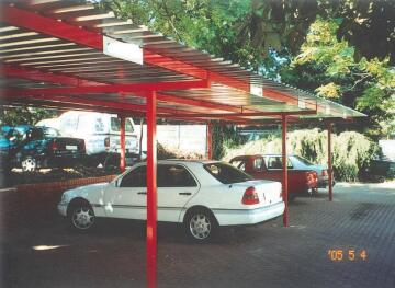 Carport KIT for 1 Car Spray Painted Structure with Chromadeck Roof-w3xl6m