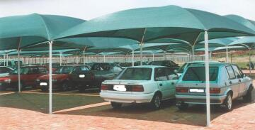 Carport KIT for 2 Cars Spray Painted Structure with Shadeport Roof-w5xl5.5m