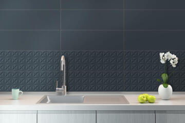 Wall Tile Ceramic Archi Navy 26.5x80cm (2m2)